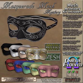~JJ~ Masquerade Mask ~ Mystery