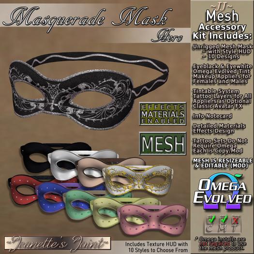 ~JJ~ Masquerade Mask ~ Hero