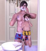SP Bento pose Teaching to shaving