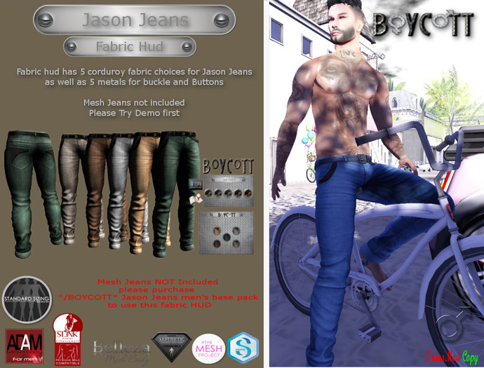 */BOYCOTT* FABRIC06 corduroy FOR jason jeans