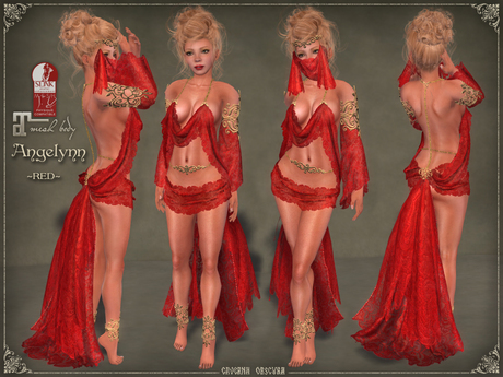 DEMO Angelynn Silks by Caverna Obscura - for Maitreya and SLINK Physique mesh body only