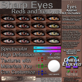 ~JJ~ Omega Evolved Eyes Appliers (Sharp Reds and Yellows)