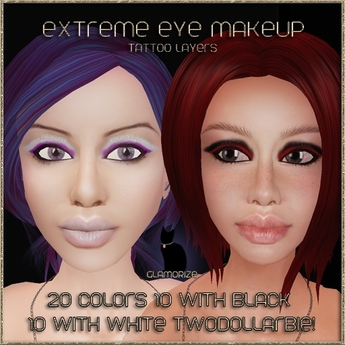 .:Glamorize:. Extreme Eye Makeup Tattoo Layers 20 Colors This looks like a... PROMO!