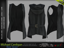 Michael Black Cardigan Male, MESH - SIGNATURE GIANNI - GERALT, SLINK, BELLEZA JAKE - FashionNatic
