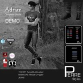 PierreStyles ADRIAN : T-shirts & Jeans-DEMO-for mesh & classic bodies