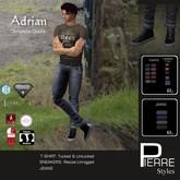 PierreStyles ADRIAN : T-shirts & Jeans- Fitmesh for 7 mesh avatars