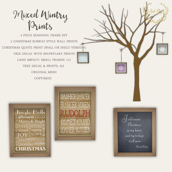 {what next} Mixed Wintry Prints