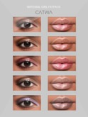 S.E CATWA MATERIAL GIRL EYES&LIPS FATPACK MAKEUP APPLY