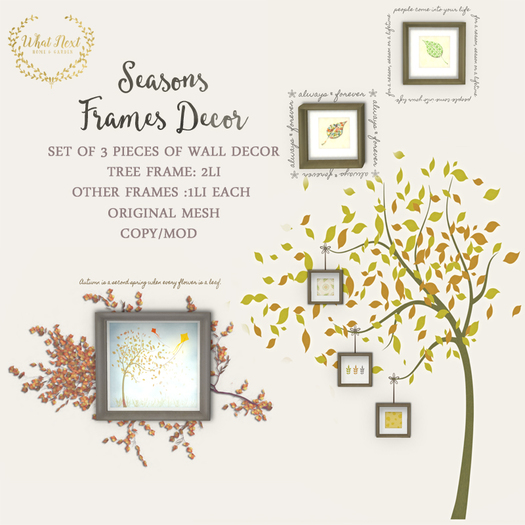 {what next} Seasons Frames Decor