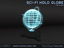 **To(kk)en Industries** Sci-Fi Holo Globe (Mesh)