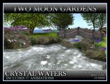 CRYSTAL WATERS* Landscape Garden Bridge and Stream