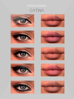 S.E CATWA PHOTO EYES&LIPS FATPACK MAKEUP APPLY