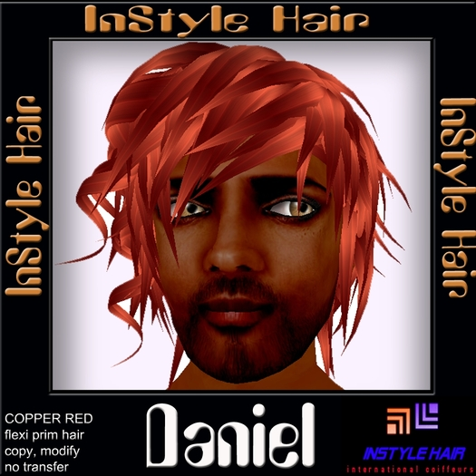 Second Life Marketplace Instyle Hair Daniel For Men Copper Red