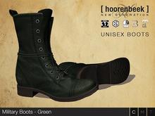 [ hoorenbeek ] Military Boots - Green