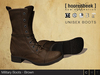 Military Boots - Brown