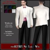 *1800B*MESH Tuxedo - White