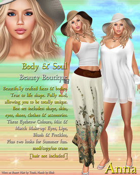Body & Soul - Complete Avatar - BEAUTY BOUTIQUE - NEW Anna