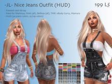 -JL- Nice Jeans Outfit (HUD) for Maitreya, Slink (all), Belleza (all), TMP, eBody Curvy, Alamura