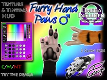 "Catseye ""Furry Hand Paws - male"" Omega-Ready! & Bento (Slink, Belleza Jake, Signature Gianni)"
