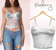 Blueberry - Rie - Wet Tops - White