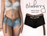 Blueberry - Fye - Belt & Shorts - Black