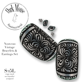Dark Mouse Vintage Nouveau Bangles & Earrings