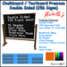 Chalkboard Premium Double Sided - 128 Signs each Side