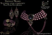 Zuri's Partial Mesh Antique Plum Pearl/Onyx Sparkle - Updated to P Mesh
