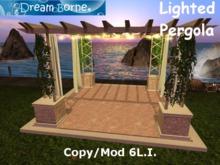 DREAM BORNE  - Lighted Pergola Copy/Mod Low Prim Mesh