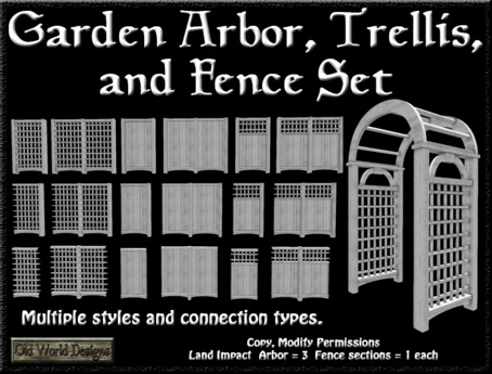 Second Life Marketplace Old World Designs Garden Arbor Trellis
