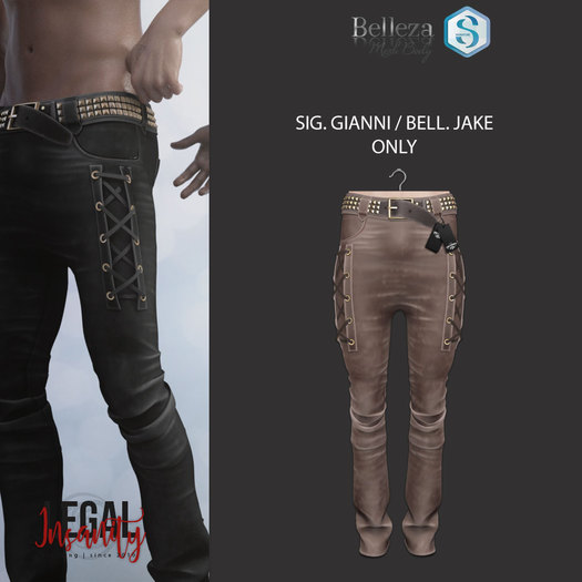 Legal Insanity - Axl light brown leather pants