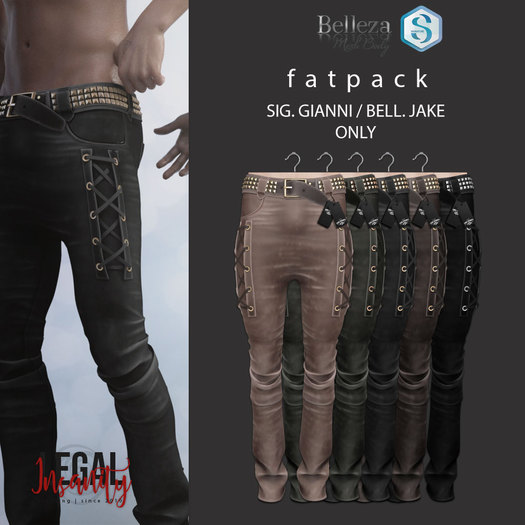 Legal Insanity - Axl leather pants FATPACK