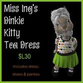 Miss Ing's Dinkie Kitty Tea Dress Set