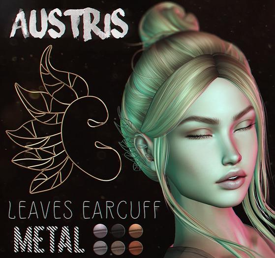 austris - leaves earcuff