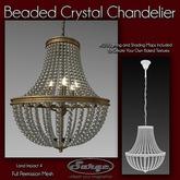 Beaded Crystal Chandelier - Full Perm Mesh