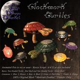 The Half Moon Market - Clockwork Turtles -Two Headed Green RARE