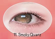 chouette :: sparkling eyes / 11 smoky quartz