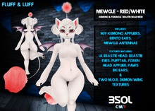 F&L - Mewgle - Kemono Mod - White/Red