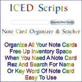 [IS] Note Card Organizer - HUD