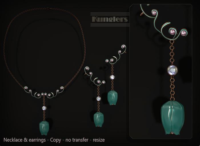 KUNGLERS - Biba necklace - Agate