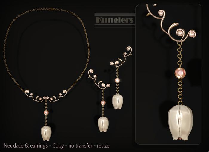 KUNGLERS - Biba necklace - Quartz