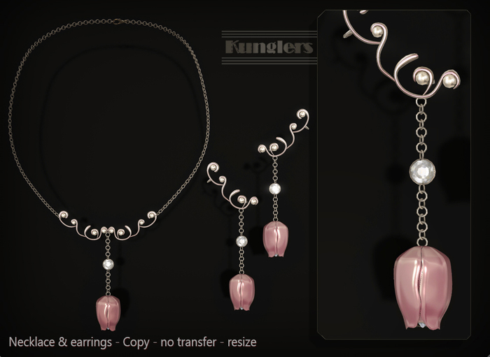 KUNGLERS - Biba necklace - Rose