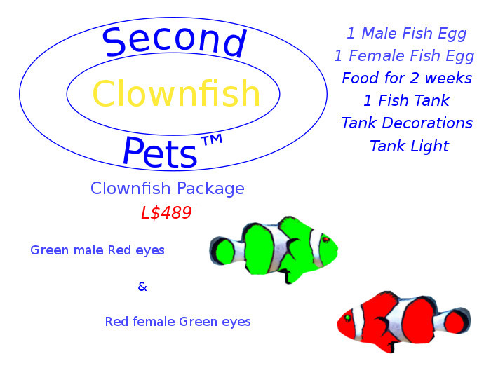 Two Clownfish Eggs Green & Red