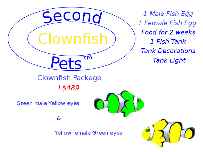 Two Clownfish Eggs Green & Yellow
