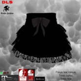 Frilly lace skirt black black bow