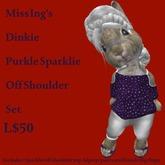 Miss Ing's Dinkie Purkle Sparklie Off Shoulder Set