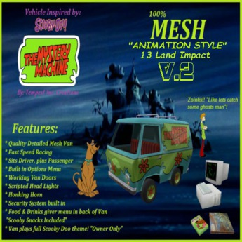 Vehicle inspired by Mystery Machine