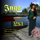 {L} Inga Summer dress (Demo Cornflower)