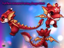 Full Perm Amazing Animated Cute Fantasy Dragon Mesh