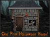 RE One Prim Halloween House w/Mummy Decoration Spooky/Scary Fun!